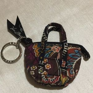 Vera Bradley Kensington Mini Tote Key Chain